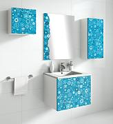 Lebanatau - Mueble de baño one lilly, medidas 60x40x45 cm, color azul