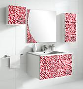 Lebanatau - Mueble de baño one, mary, medidas 80x40x45 cm, color rojo