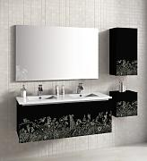 Lebanatau - Mueble de baño three forestan, medidas 120x35x45 cm, color negro