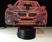 LED Car 3D Illusion Lamp 7 Color Changing LED