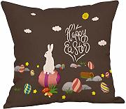 LEEDY2019 Happy Easter Bunny Funda de Almohada