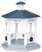 Lemax - Plastic Gazebo With Decorations, Set Of 6