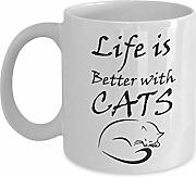 LEWE Best gift Life Is Better With Cats - Special