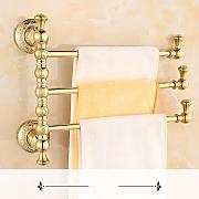 LHbox Tap El Golden Toalla de baño de Oro del Kit