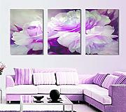 Lienzo 3 Unidades Wall Art Lover Flower Lienzo