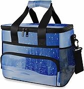 LINPM Nevera, Winter Night 15l Lonchera Grande con