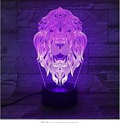 Lion Face Night Light 7 Color Cambiante Animal Led