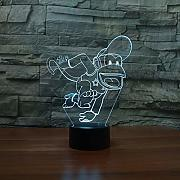LLZGPZXYD Creative Led 3D Vision Regalo Divertido
