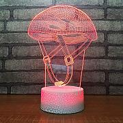 LLZGPZXYD Mesita De Noche Creativo 3D Led Night