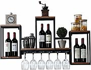 Loft Retro Iron Art Wine Rack, Montaje en Pared