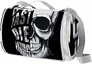LORVIES Cool Skull Head Manta de Picnic Tote