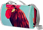 LORVIES Gallo de Arte Manta de Picnic Tote