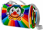 LORVIES Payaso Colorido Manta de Picnic Tote