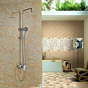 "Luxurious shower Chrome 8"" Ultra Fino conjunto"