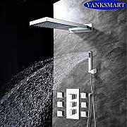 Luxurious shower Cromo pulido YANKSMART Baño