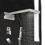 Luxurious shower Niquel cepillado grifo ducha