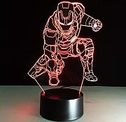 Luz de noche 3d Iron Man Night Light LED Vision