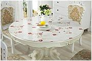 LY-tablecloth Mantel Redondo de PVC Color Plata