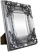 Madera sólida - Shabby Chic Makeup Cosmetic Mirror - Small - 30 x 25 cm - Silver