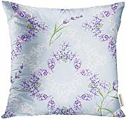 Medlin Throw Pillow Cover Blue Vintage Watercolor