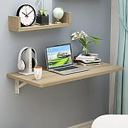 Mesa plegable de pared Mesa plegable de pared Mesa de comedor de mesa de secretaría Tabla de mesa de escritorio secretaria ( Color : Beige )