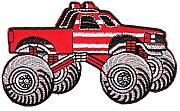 Monster Truck Rojo parche con plancha Patch