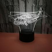 New airplane 3d night light colorful remote touch
