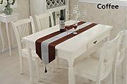 NKLHJ Table Runner Tabla Bandera Franela Mesa Boda