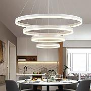 Novely Chandeliers Large Round Dimmable Led