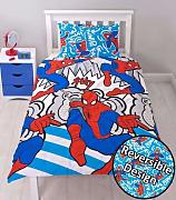 Nuevo Spiderman superhéroe Reversible funda de