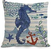 Ocean Throw Pillow Covers 18 X 18 Inches / 45 By 45 Cm Gift Or Decor For Seat,floor,divan,bedding,deck Chair,dance Room - Double Sides