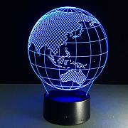 Oceanía Mapa 3D Night Light 7 Color