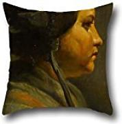 Oil Painting Matthijs Maris - Study Of The Head Of A Young Woman In Profile Pillow Covers 16 X 16 Inches / 40 By 40 Cm Gift Or Decor For Boy Friend,relatives,chair,office,divan,indoor - 2 Sides