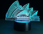 (ópera) Creative 3D LED Night Light Sydney Opera