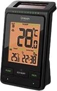 Oregon Scientific RMR-802 - Termómetro solar, temperatura interior/exterior, incluye sensor, color negro