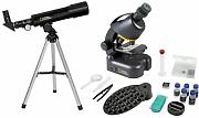 Pack Telescopio Compacto 50mm + Microscopio Con