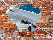 Papel Pintado Avion Fotomural 3D Mural Pared