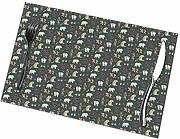 Patchwork Bears Floral Verde Oscuro Manteles
