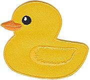 Pato Amarillo parche con plancha Patch applikation