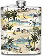 petaca Island With Palm Trees Pattern Premium 304