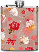 petaca Romantic With Roses cupcakes Pattern
