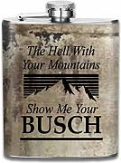 petaca The Hell With Your Mountains Hip Flask