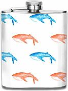 petaca Watercolor With Whales Pattern Premium 304