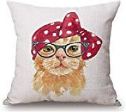 Pillow Shams Of Cat,for Living Room,divan,lounge,girls,wedding,office 16 X 16 Inches / 40 By 40 Cm(2 Sides)