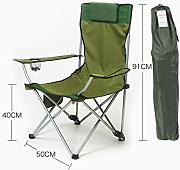 Portable Camping Chair De LDFN | Outdoor Casual Multifunctional Chair Beach Sketch Oxford Fabric Y Iron Chair,C