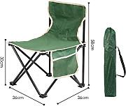 Portable Camping Chair De LDFN | Outdoor Multifunctional Chair Casual Oxford Fabric Steel Silla Plegable,C