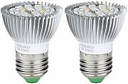 Poxcap 2PCS LED Plant Grow Light Bulb E27 Lámpara