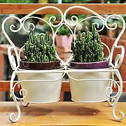 QD Huajia HYNH Retro Pots Shelf Fer Flor Racks