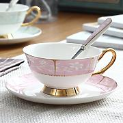 qingci Bone China Coffee Cup and Saucer Creative