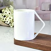 qingci Creative Ceramic Mug 401-500Ml Blanco